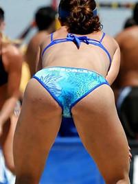 Girls asses volleyball